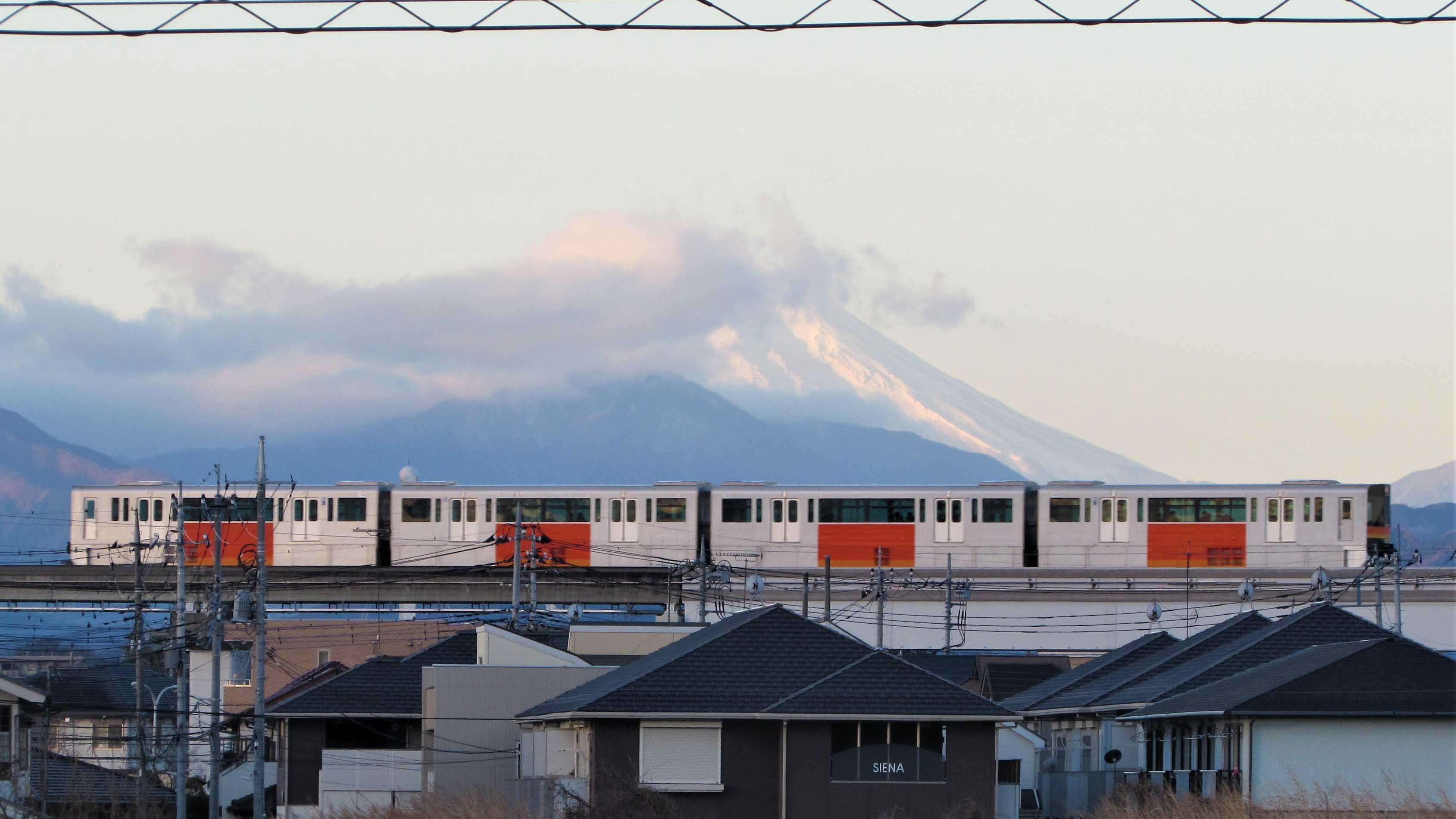 Tama Toshi Monorail Mount Fuji