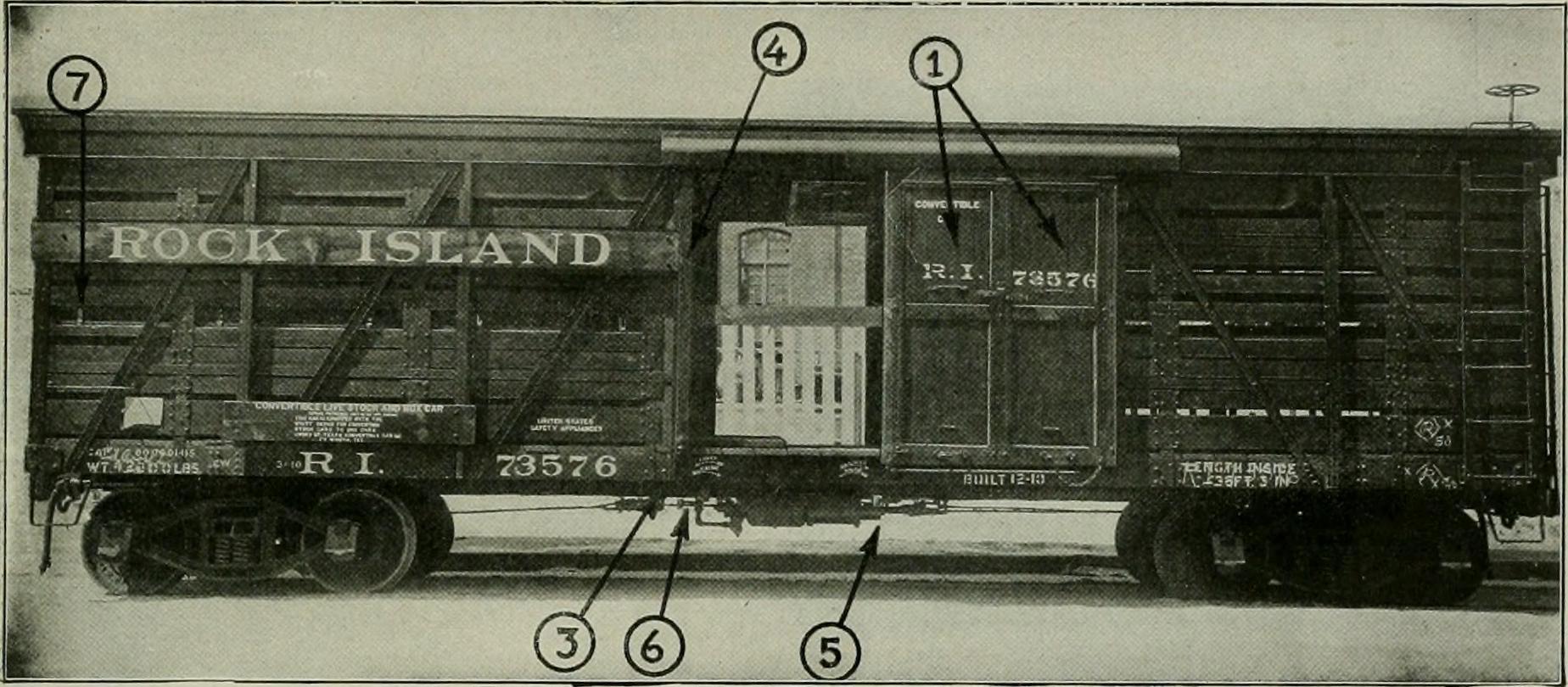 Rock-Island-Railroad-Box-Stock-Car-1916